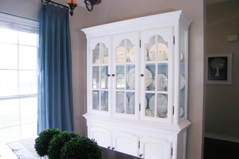Amazing DIY China Cabinet Makeover (in White & French Blue!)