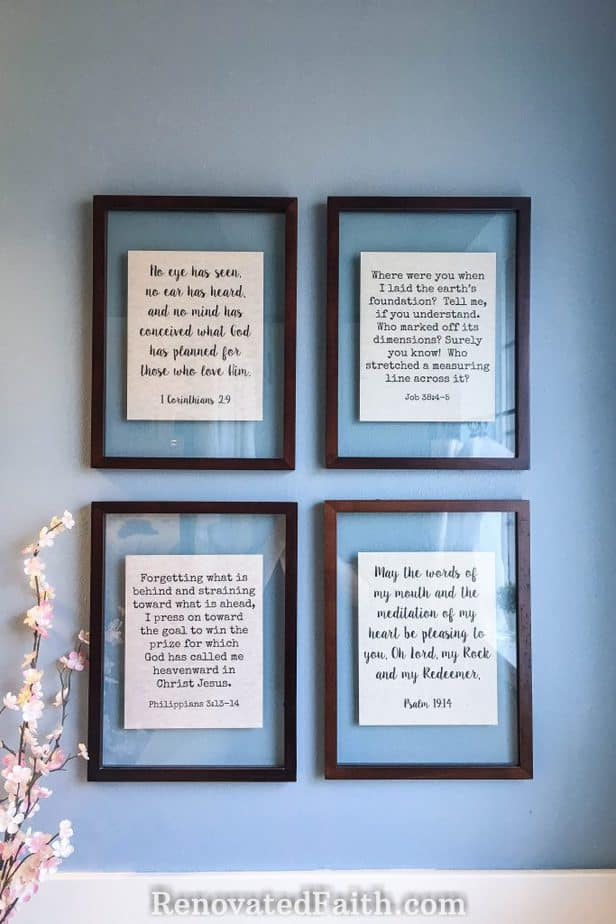 floating frame wall art