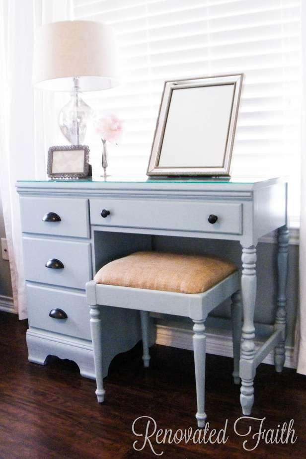 Diy Vanity Desk Makeover Renovated Faith