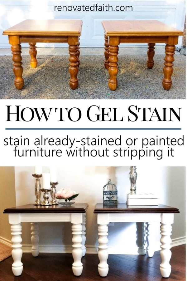 Stain Over Technique For Furniture