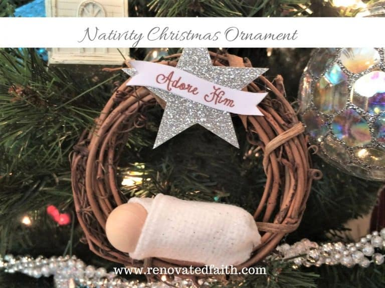 DIY Nativity Christmas Ornament