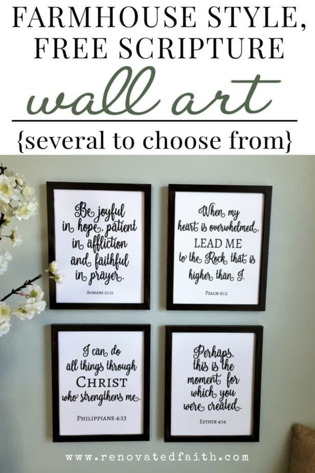 free scripture wall art