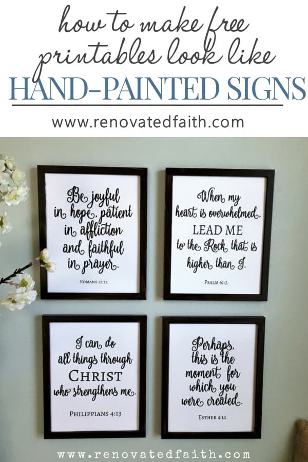 It's just an image of Free Printable Bible Verses to Frame inside encouraging bible verse