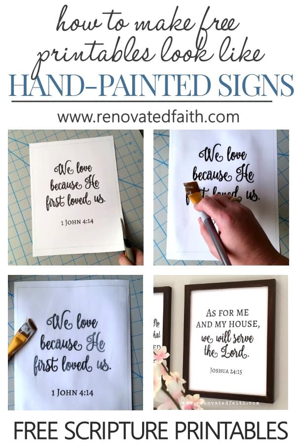 faux handpainted signs
