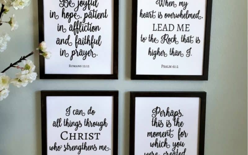 The Easy Way to Make DIY Painted Signs (Free Scripture Printables)