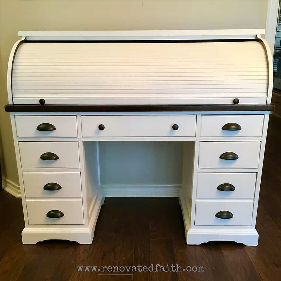 Awesome The Right Way To Refinish A Rolltop Desk Renovated Faith Download Free Architecture Designs Scobabritishbridgeorg