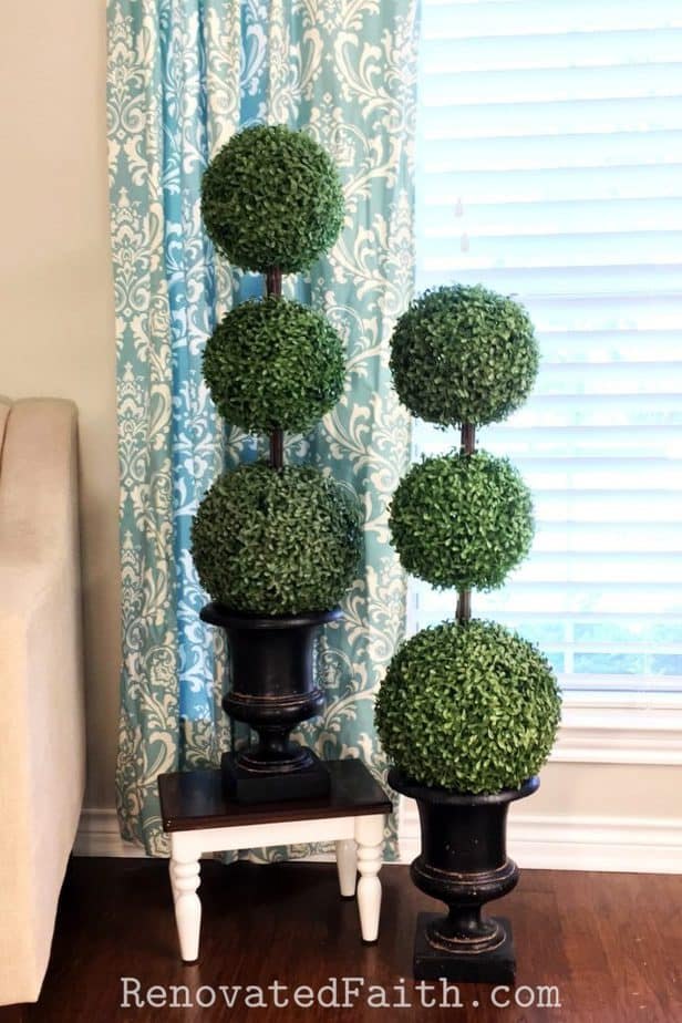 diy topiary trees