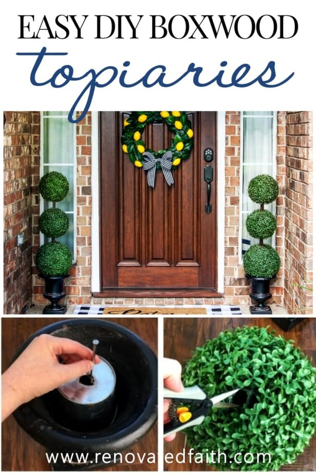 topiary decorating ideas