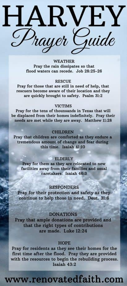Prayer for flood victims
