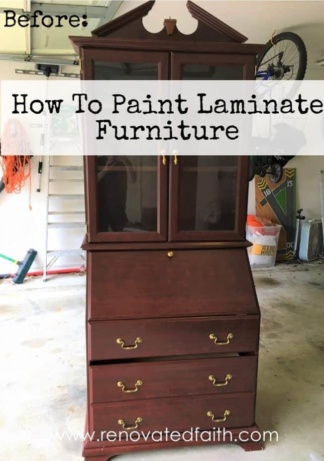 How To Paint Laminate Furniture www.renovatedfaith.com