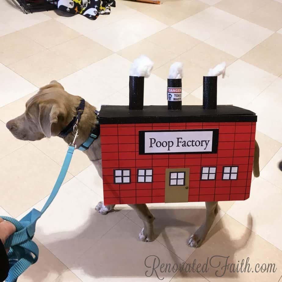 Poop Factory Dog Custume