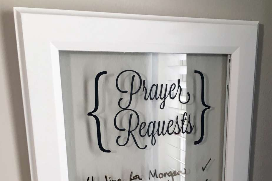 DIY Prayer Request Board www.renovatedfaith.com