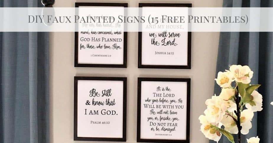 DIY Faux Painted Signs