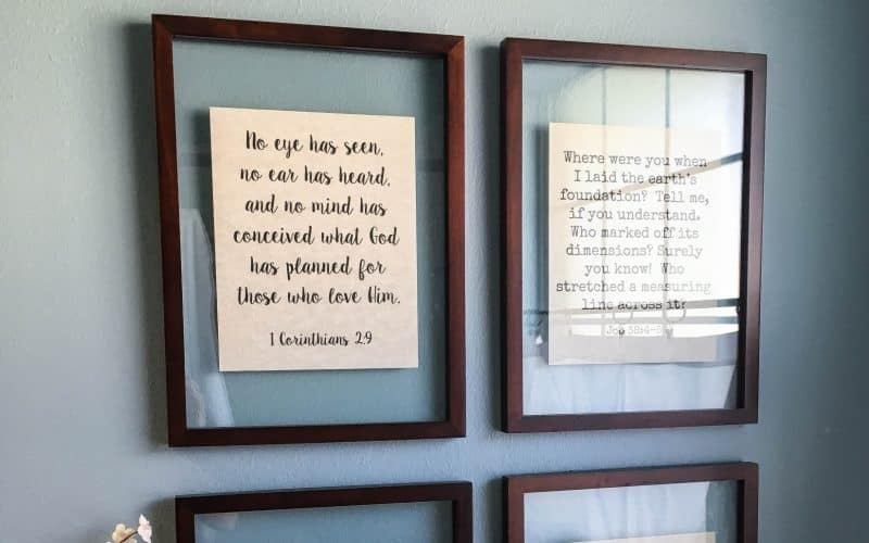 DIY Floating Picture Frame Tutorial {Reminders of God's Word In Your Home}
