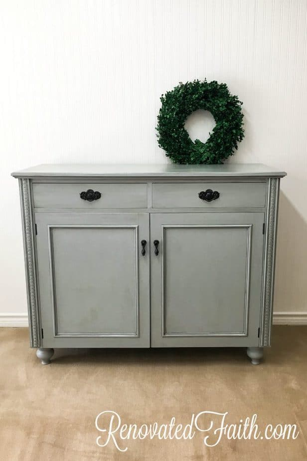 Upgrade your furniture piece with legs to create a more sophisticated look! How To Add Feet To Furniture (Buffet Makeover) #furniturelegs #furniturefeet #buffet