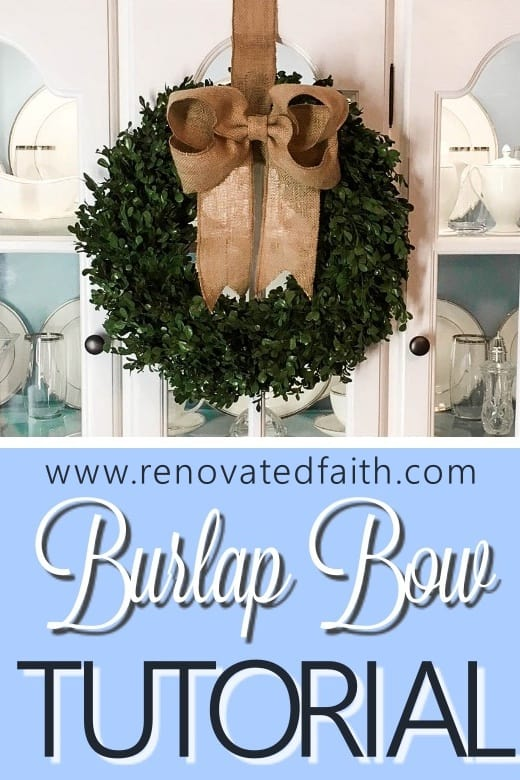 boxwood wreath with bow