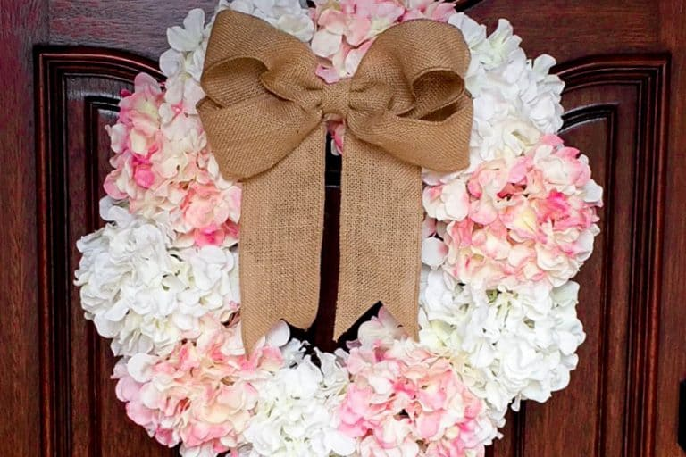 DIY Hydrangea Door Wreath {Why Spring is the Season of Hope}