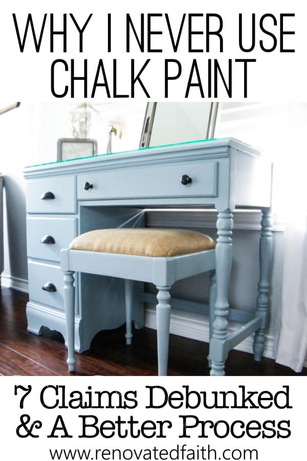why i don't use chalk paint on furniture