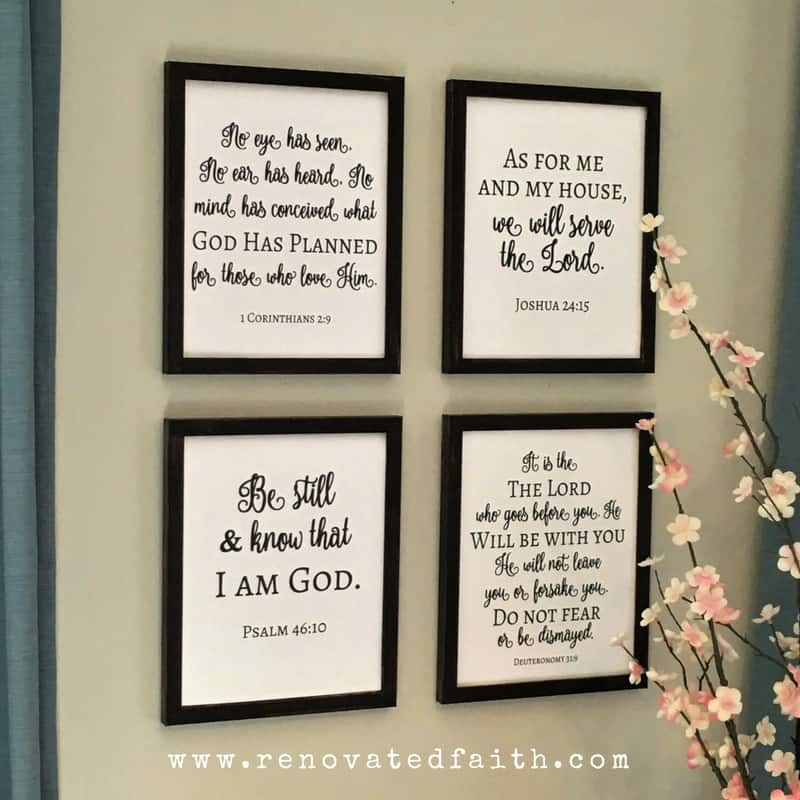 8 Cute Ways to Decorate with Scripture in your Home Decor