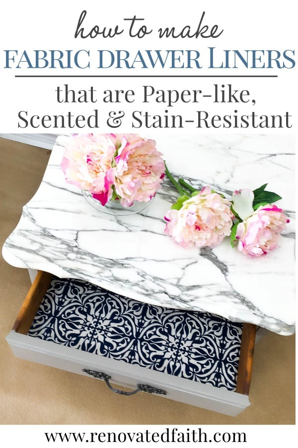 5 Easy Steps to Make Fabric Drawer Liners {Paper-like, Stain