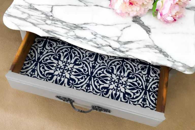 5 Easy Steps to Make Fabric Drawer Liners {Paper-like, Scented, Stain-Resistant & Removable}