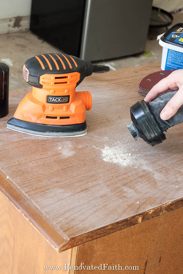 How To Sand Furniture With Electric Sander Supplies Needed