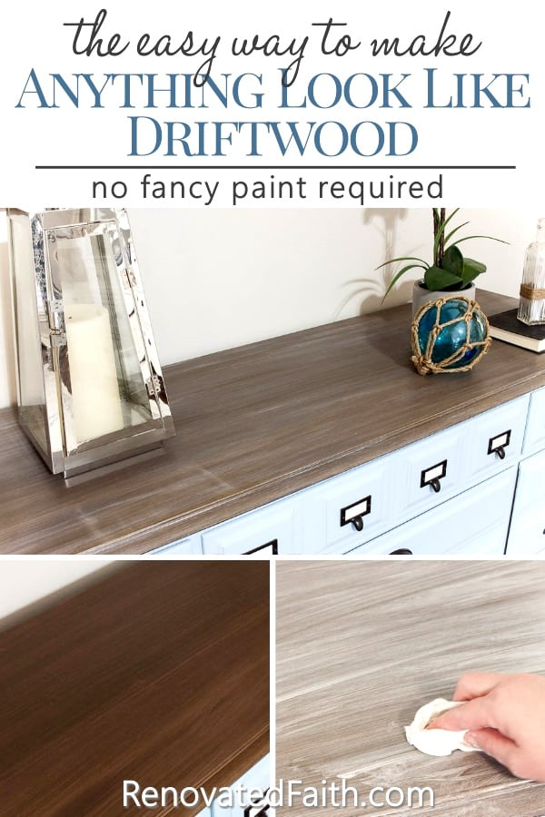 Fabulous Three Easy Steps To A Diy Driftwood Finish On Any Surface Interior Design Ideas Jittwwsoteloinfo