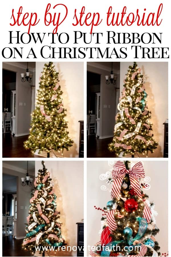 How To Put Ribbon On Christmas Tree.How To Add Ribbon To A Christmas Tree Christmas Tree