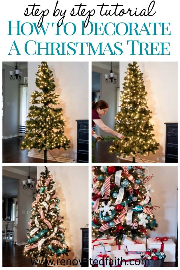 Decorate a Christmas Tree Step by Step