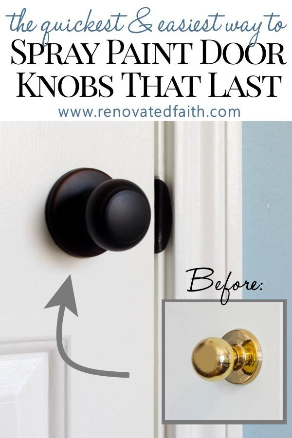 How To Spray Paint Door Knobs That Last, Painting Metal Kitchen Cabinet Handles