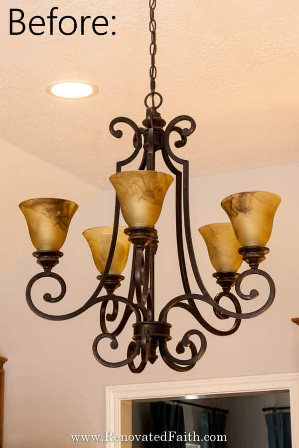 Light Fixture Makeovers Diy, How To Remove A Large Chandelier