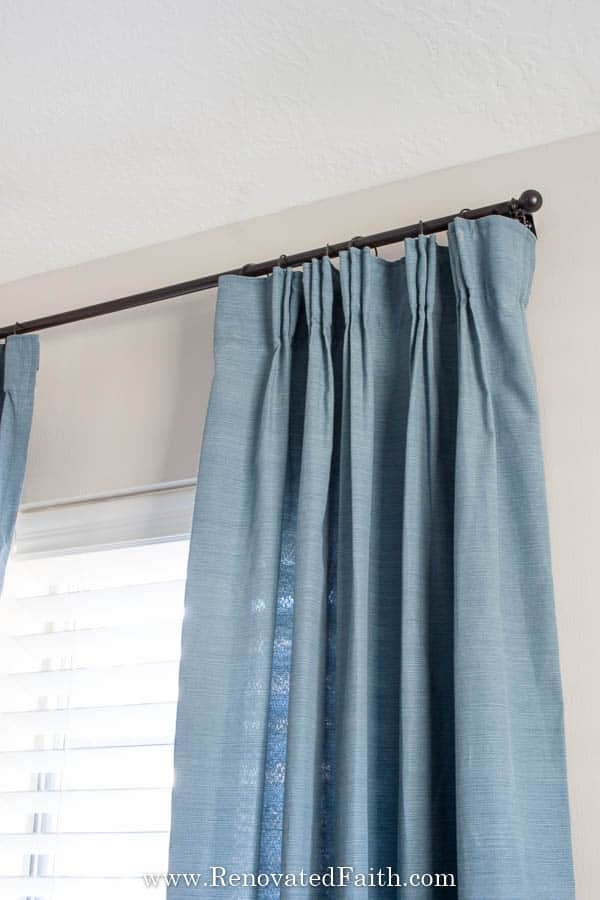 Diy Pinch Pleat Curtains Add A Pinch Pleat To Store