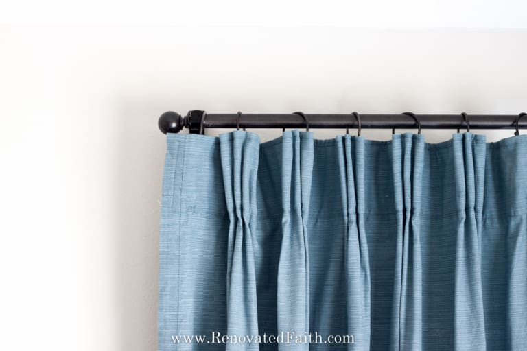 DIY Pinch Pleat Curtains (Add a Pinch Pleat to Store Bought Curtains)