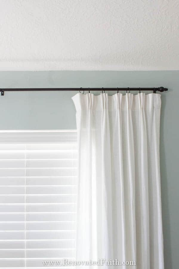 add a pinch pleat to store bought curtains