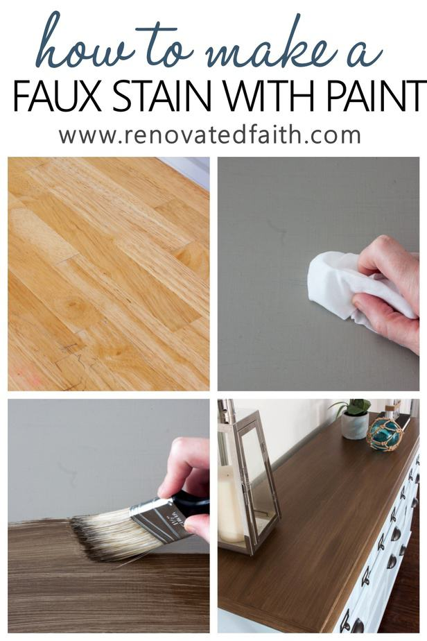 How To Apply Paint That Looks Like Stain Barnwood Stain With Latex