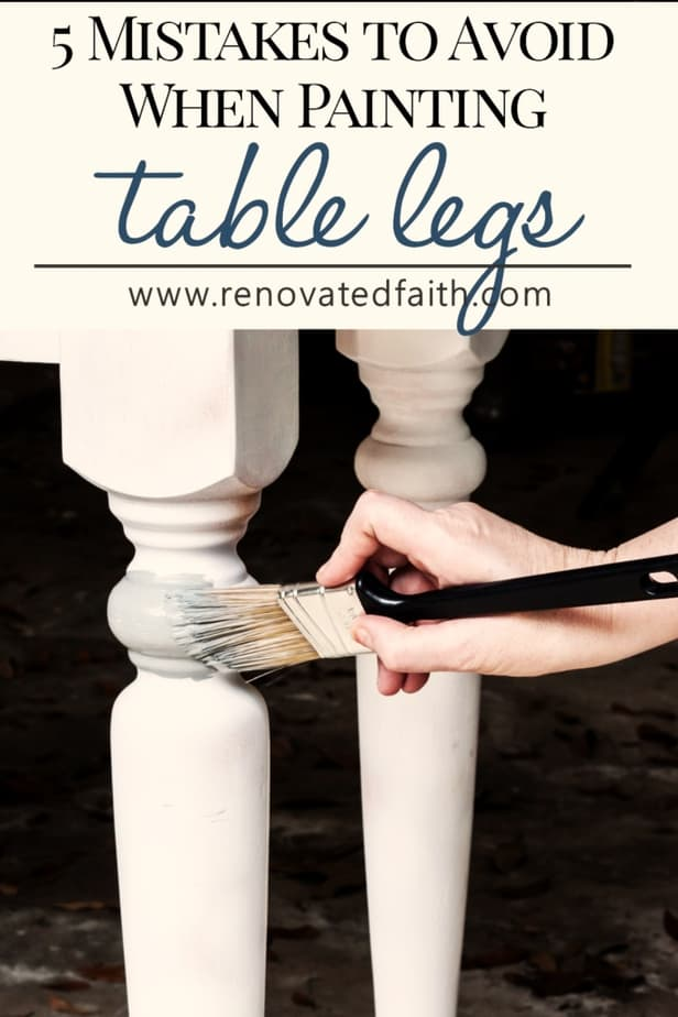 paint curvy furniture legs