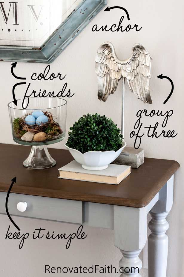 how to decorate a console table like a pro