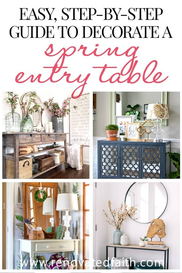 best entry table ideas for spring