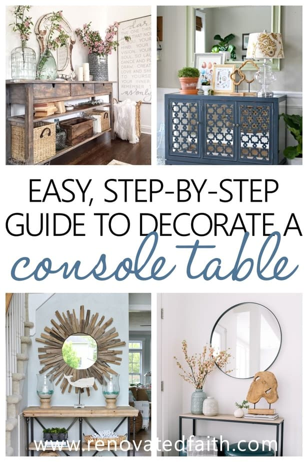 How To Decorate A Console Table Like A Pro Best Entry Table