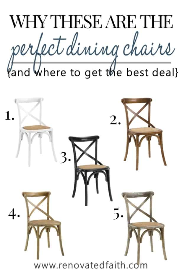 best cross back chair