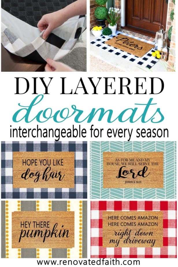 make layered doormats