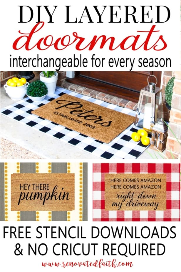 make fabric doormats