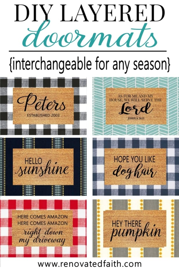 Make Layered Doormats With Fabric Interchangeable For Any