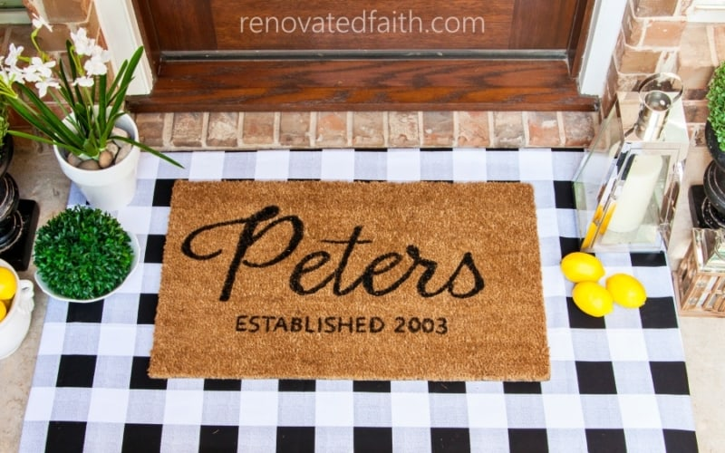 Make Layered Doormats with Fabric (Interchangeable for ANY Season!)