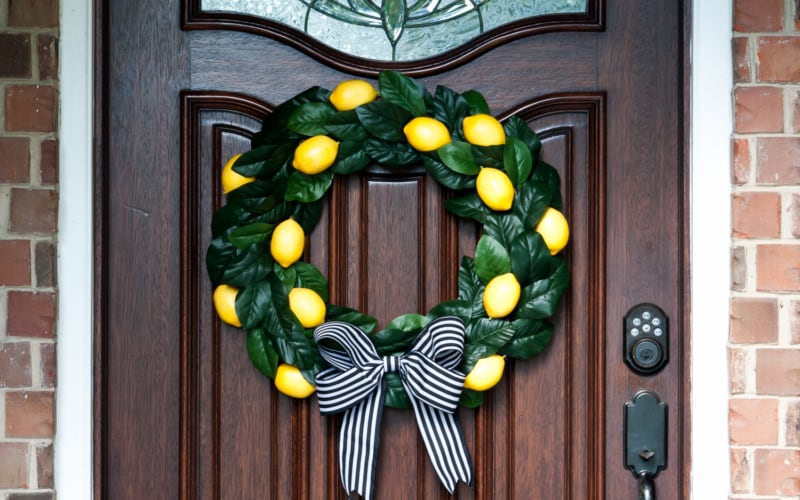 DIY Lemon Wreath Tutorial (How to Make a Citrus Wreath the EASY Way!)