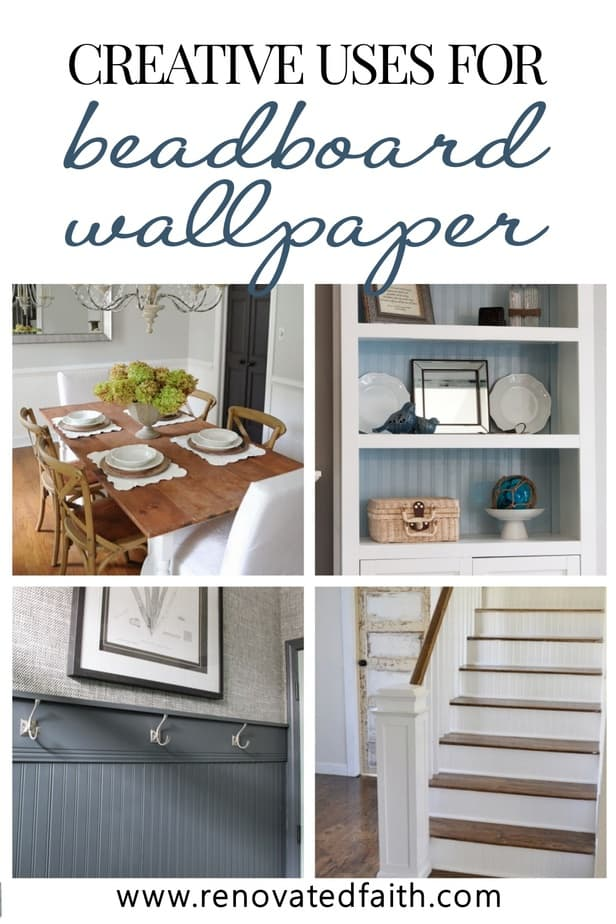 creative uses for beadboad wallpaper