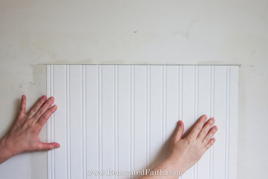 how to hang beadboard wallpaper