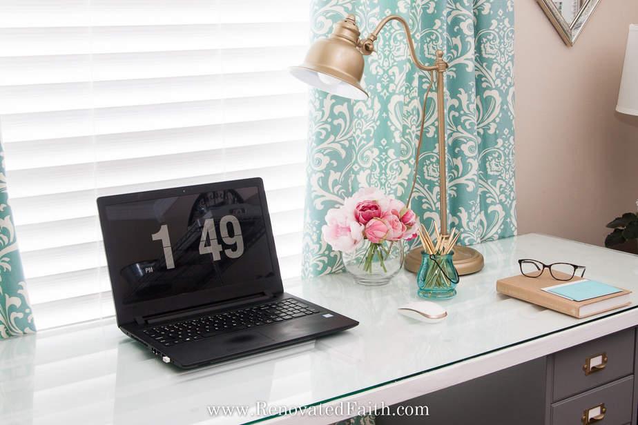 diy desk out of a door