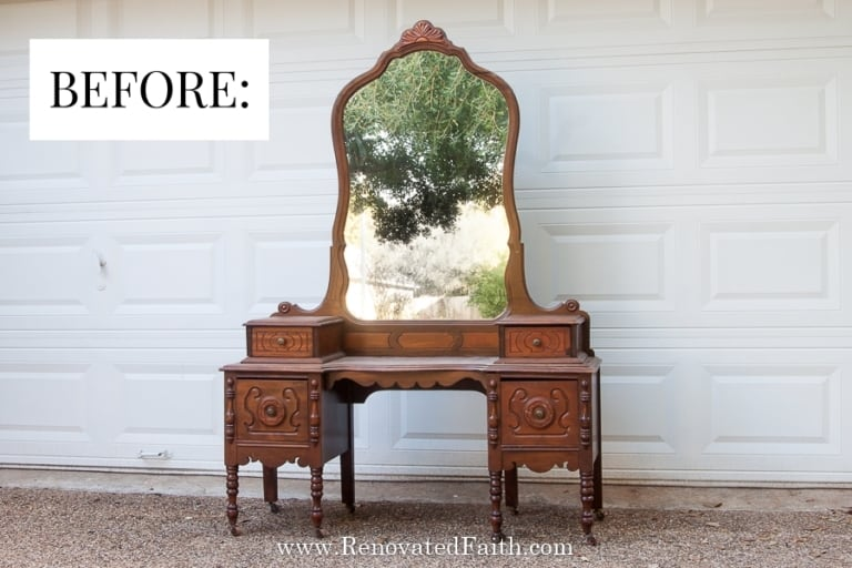 How to Paint Furniture for Beginners (Vintage Vanity Makeover)