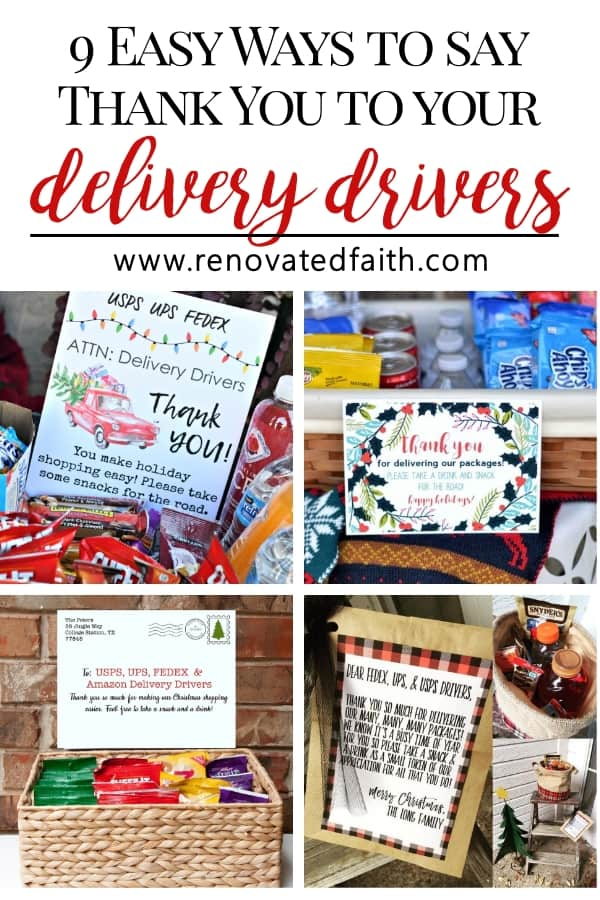 delivery driver snack printable